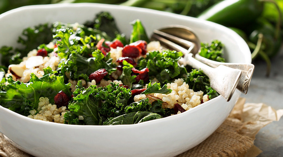 Kale, Quinoa, and Cherry Salad
