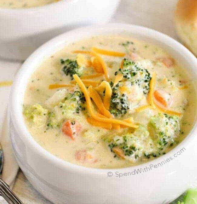 20 Minute Broccoli Cheese Soup