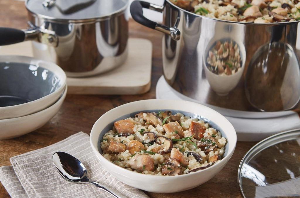 Chicken and Mushroom Risotto with Tarragon