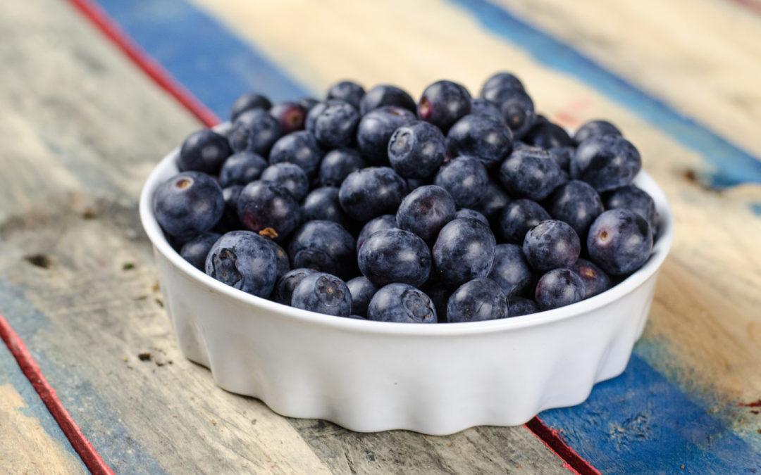 Avocado and Blueberry Fruit Salad